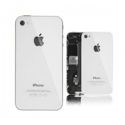 Vitre arriere iphone 4S Blanc
